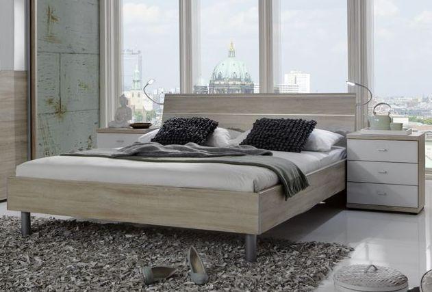 Wiemann Berlin 4ft 6in Double Bed in Rustic Oak - 140cm x 190cm