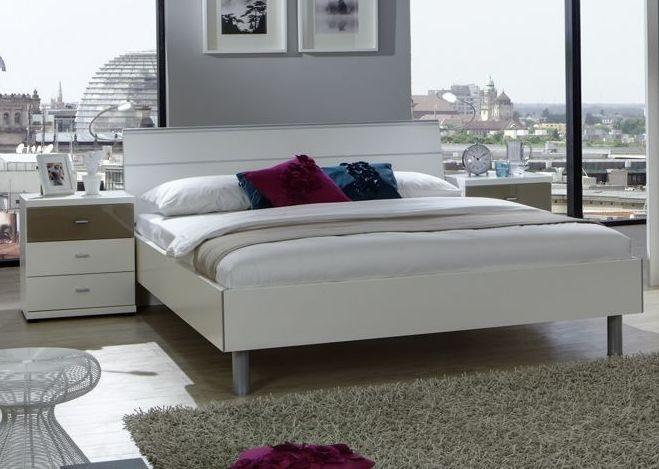 Wiemann Berlin 4ft 6in Double Bed in White - 140cm x 190cm