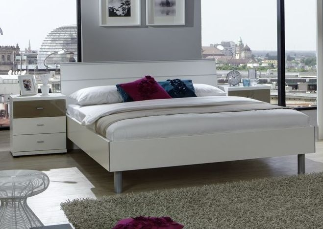 Wiemann Berlin 5ft King Size Bed in White - 150cm x 200cm