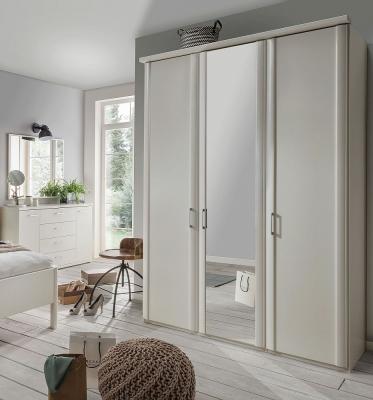 Wiemann Bern 3 Door Mirror Wardrobe in White - W 150cm