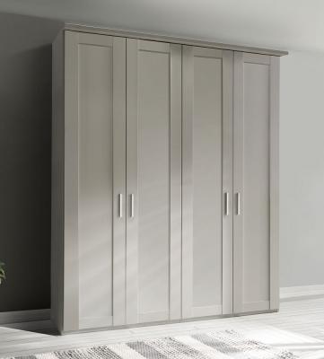 Wiemann Cambridge 4 Door Wardrobe in White - W 200cm