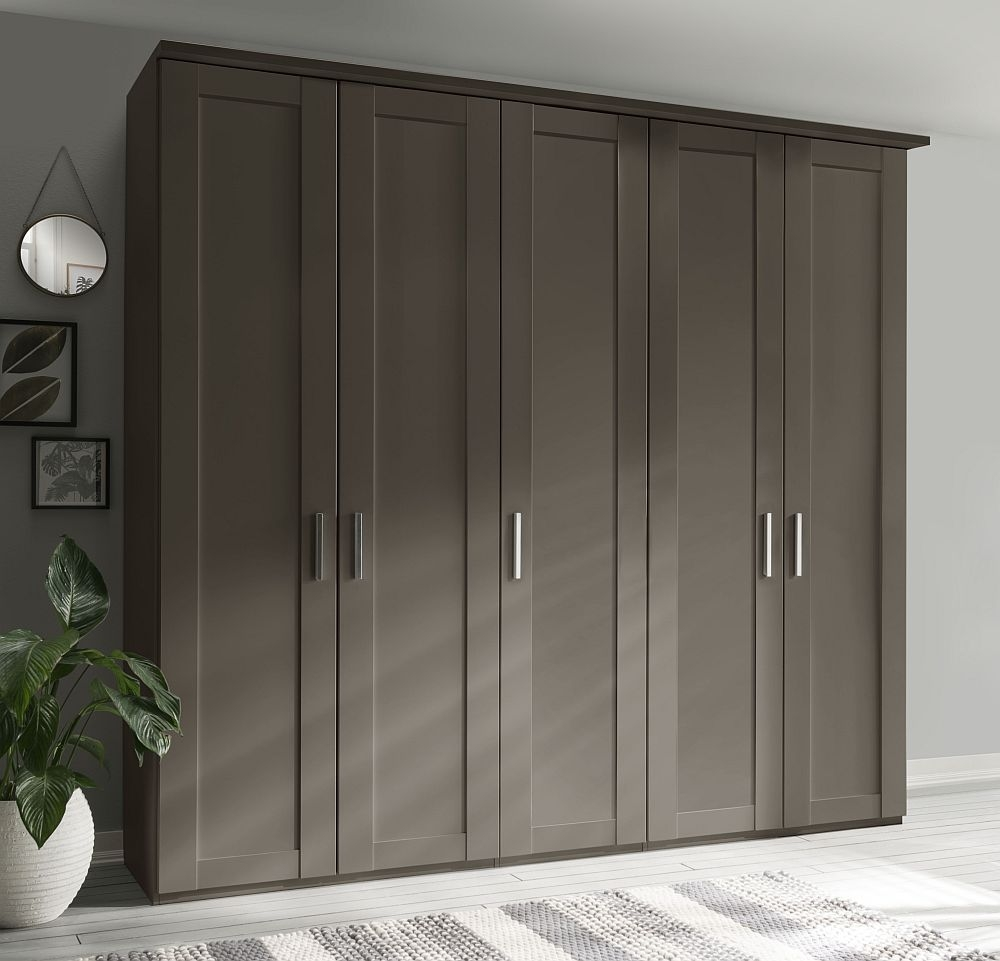 Wiemann Cambridge 5 Door Wardrobe in Havana - W 250cm
