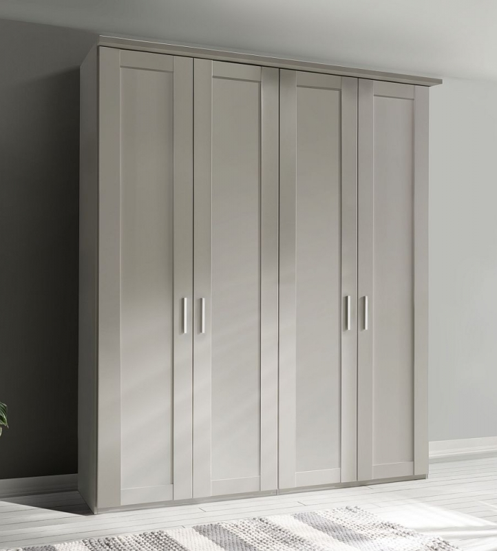 Wiemann Cambridge 4 Door Wardrobe in White - W 200cm