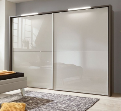Wiemann Cannes 2 Door Sliding Wardrobe in Havana and Pabble Grey - W 150cm