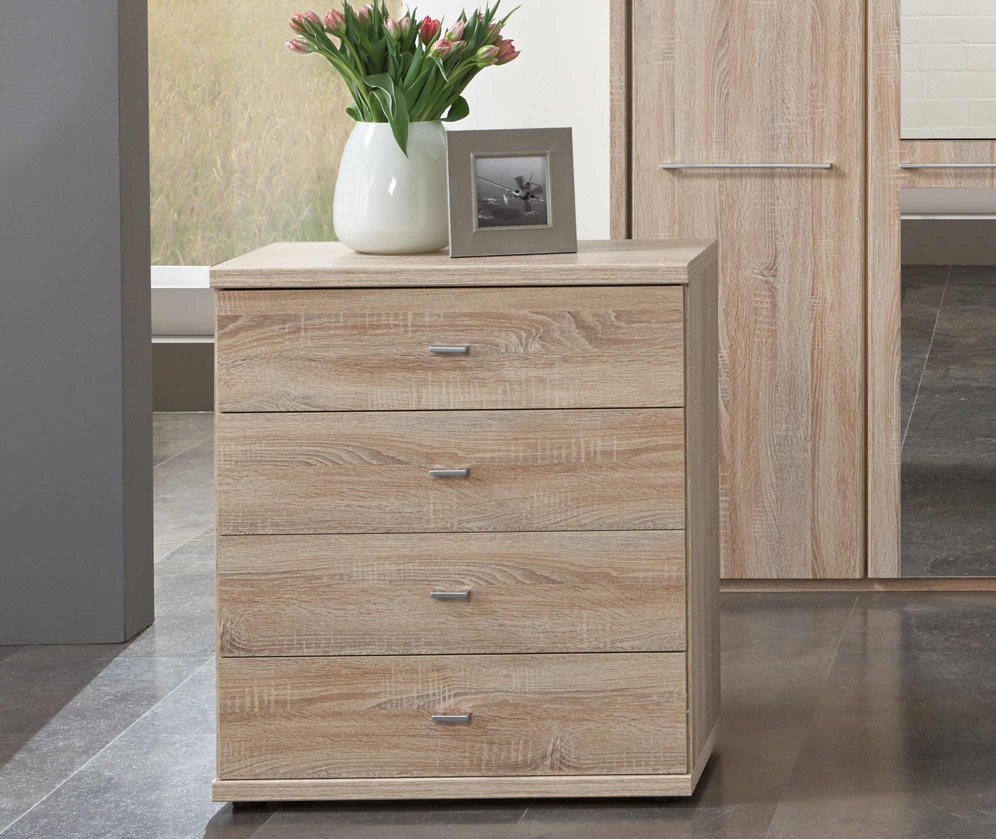 Wiemann Dakar-2 2 Door 4 Drawer Combi Chest in Rustic Oak