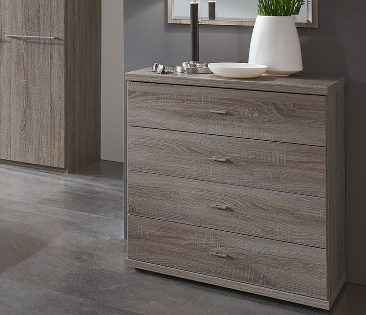Wiemann Dakar-2 8 Drawer Chest in Dark Rustic Oak