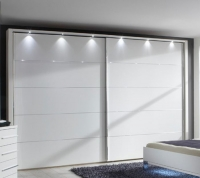 Wiemann Hollywood4 2 Door Sliding Wardrobe in White - W 400cm