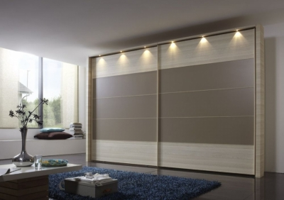 Wiemann Hollywood 4 Polar Larch Sliding Wardrobe with Line 2-3 and 4 in Sahara - W 200cm-400cm