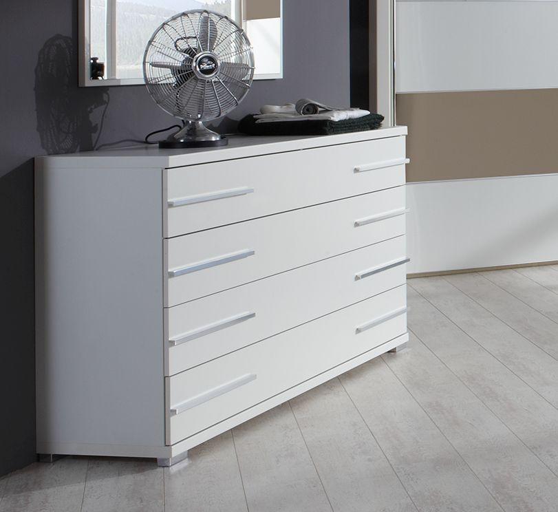 Wiemann Hollywood 4 1 Door 4 Drawer Combi Chest in White