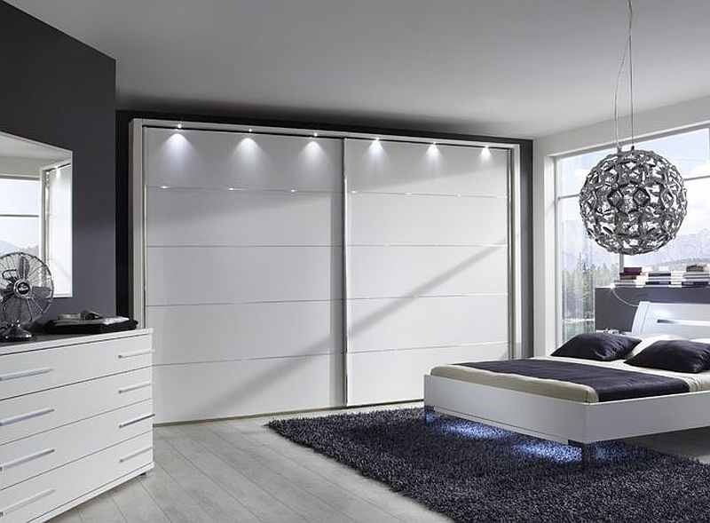 Wiemann Hollywood 4 White Sliding Wardrobe - W 200cm-400cm