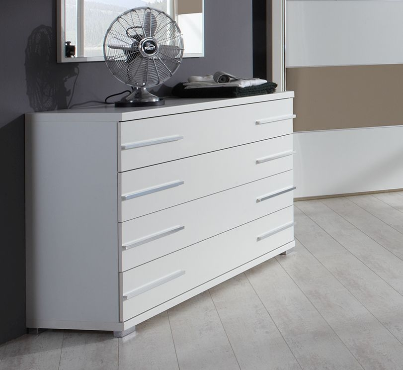 Wiemann Hollywood4 1 Door 4 Drawer Combi Chest in White