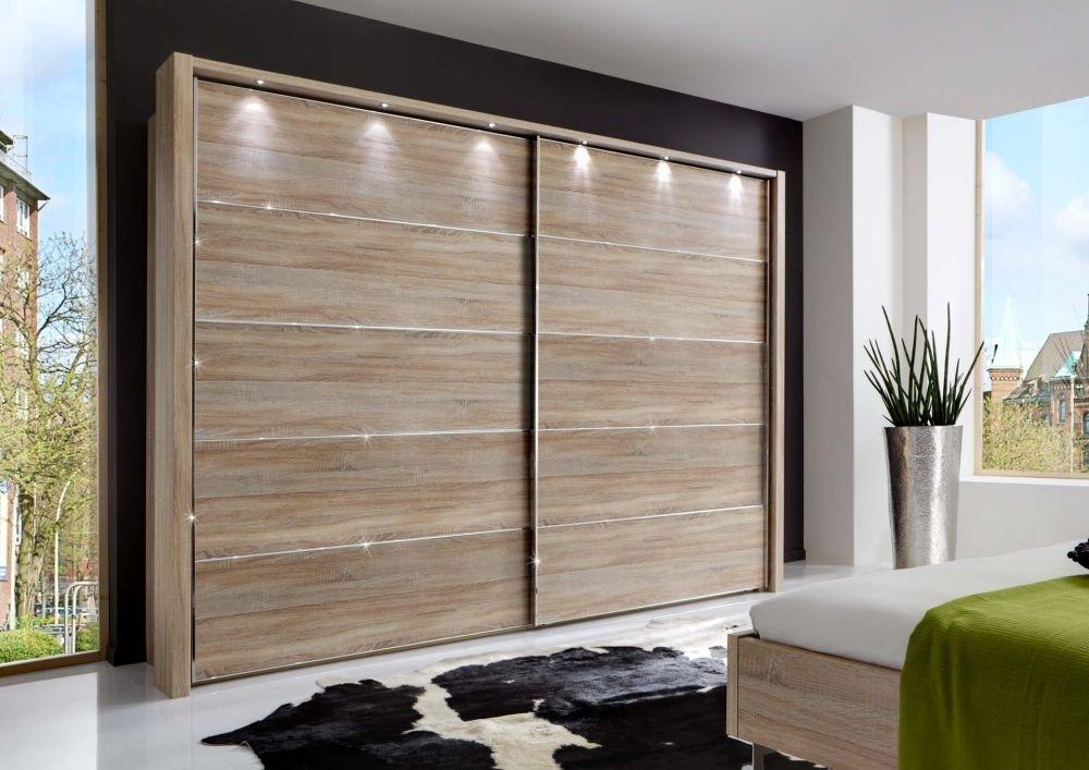 Wiemann Hollywood4 2 Door Sliding Wardrobe in Dark Rustic Oak - W 400cm x H 236cm