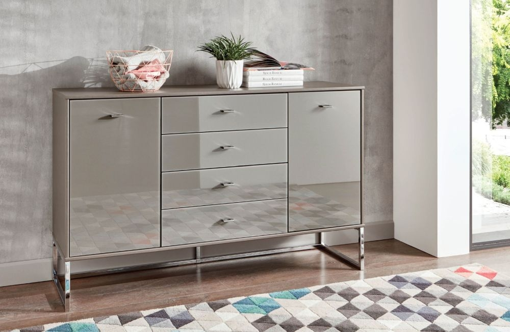 Wiemann Kansas 5 Drawer Chest in Havana Glass - H 86cm