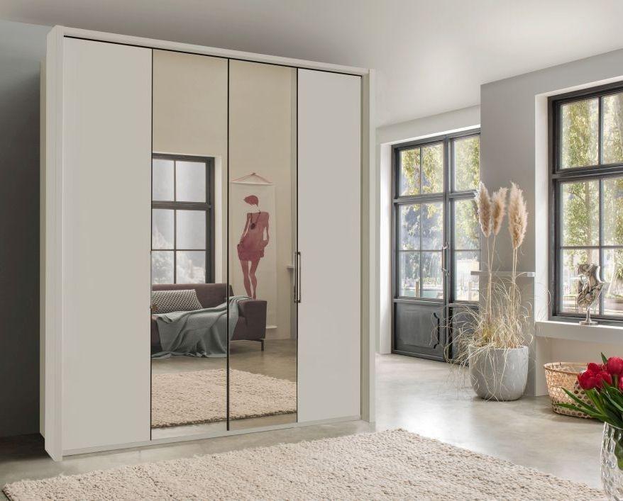 Wiemann Kansas 6 Door Bi-Fold Wardrobe in Champagne - W 300cm