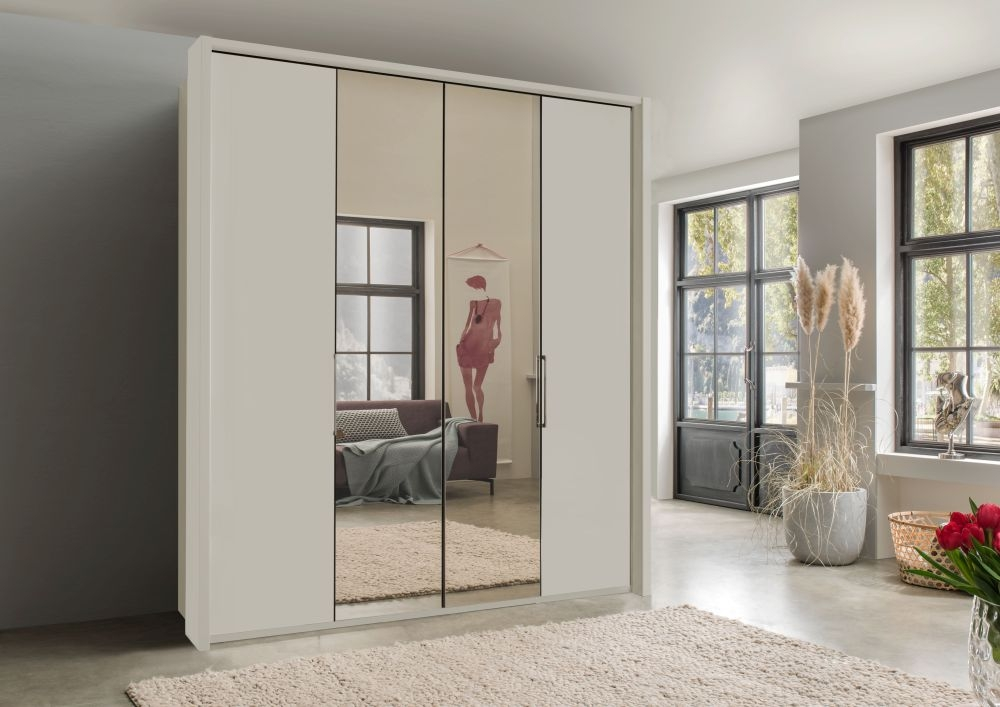 Wiemann Kansas Bi-Fold Wardrobe with Mirror