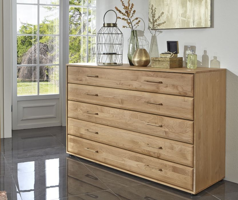 Wiemann Lido 5 Drawer Chest in Oak - W 40cm