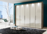 Wiemann Loft Bi-Fold-Panorama Door Wardrobe with Glass Front