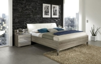Wiemann Loft Futon Bed with Faux Leather Cushion Headboard