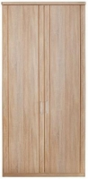 Wiemann Luxor 3+4 2 Door Hinged Wardrobe in Rustic Oak - W 100cm