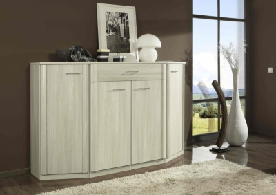 Wiemann Luxor 3+4 1 Door 4 Drawer Wide Combi Chest in Light Ash