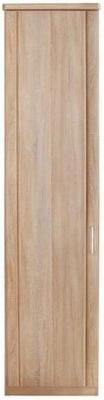 Wiemann Luxor 3+4 1 Left Hand Facing Door Hinged Wardrobe in Rustic Oak - W 50cm