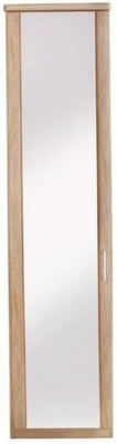 Wiemann Luxor 3+4 1 Left Hand Facing Mirror Door Hinged Wardrobe in Rustic Oak - W 33cm