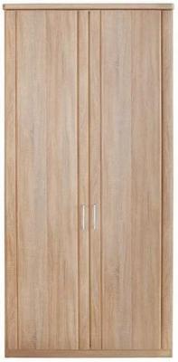 Wiemann Luxor 3+4 2 Door Hinged Wardrobe in Rustic Oak - W 100cm