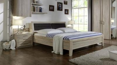 Wiemann Luxor 3+4 43cm Bedside Height 5ft King Size Bed in Rustic Oak - 160cm x 200cm