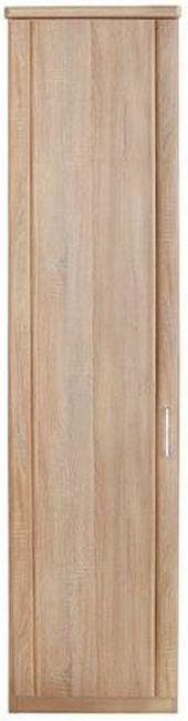 Wiemann Luxor 3+4 1 Left Hand Facing Door Hinged Wardrobe in Rustic Oak - W 33cm