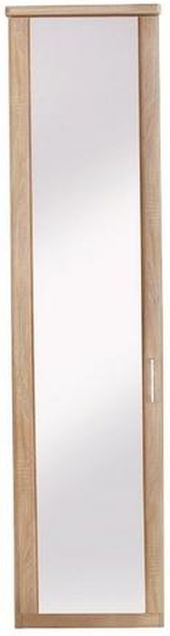Wiemann Luxor 3+4 1 Left Hand Facing Mirror Door Hinged Wardrobe in Rustic Oak - W 33cm
