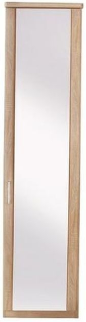 Wiemann Luxor 3+4 1 Right Hand Facing Mirror Door Hinged Wardrobe in Rustic Oak - W 33cm