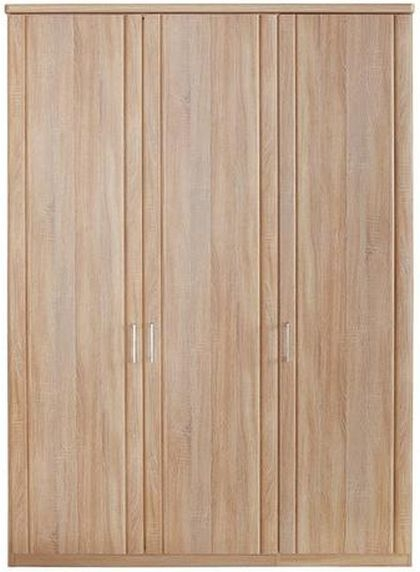 Wiemann Luxor 3+4 3 Door Hinged Wardrobe in Rustic Oak - W 150cm