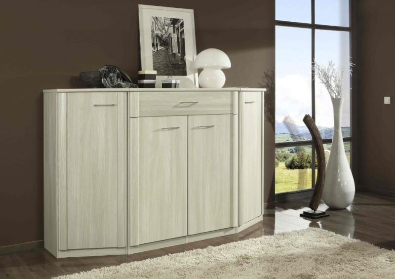 Wiemann Luxor 3+4 3 Drawer Bedside Cabinet in Light Ash - W 60cm