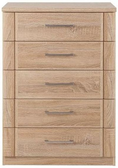 Wiemann Luxor 3+4 5 Drawer Chest in Rustic Oak