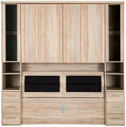 Wiemann Luxor 3+4 Overbed Unit with 33cm Occasional Element and Bedding Box in Rustic Oak - W 235