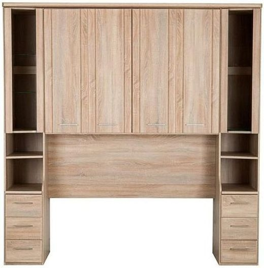wiemann luxor 3 4 overbed unit with 33cm occasional element in rustic oak w