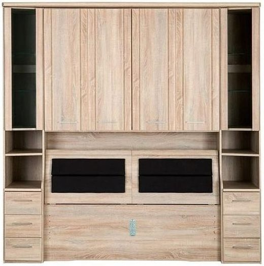 Wiemann Luxor 3+4 Overbed Unit with 50cm Occasional Element and Bedding Box in Rustic Oak - W 250