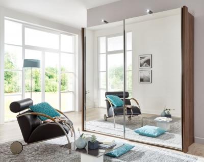 Wiemann Miami2 2 Mirror Door Sliding Wardrobe in Nocce - W 150cm
