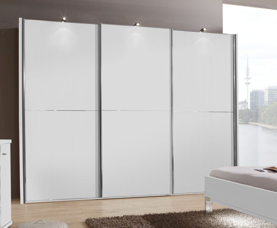 Wiemann Miami2 3 Door Sliding Wardrobe in White - W 250cm