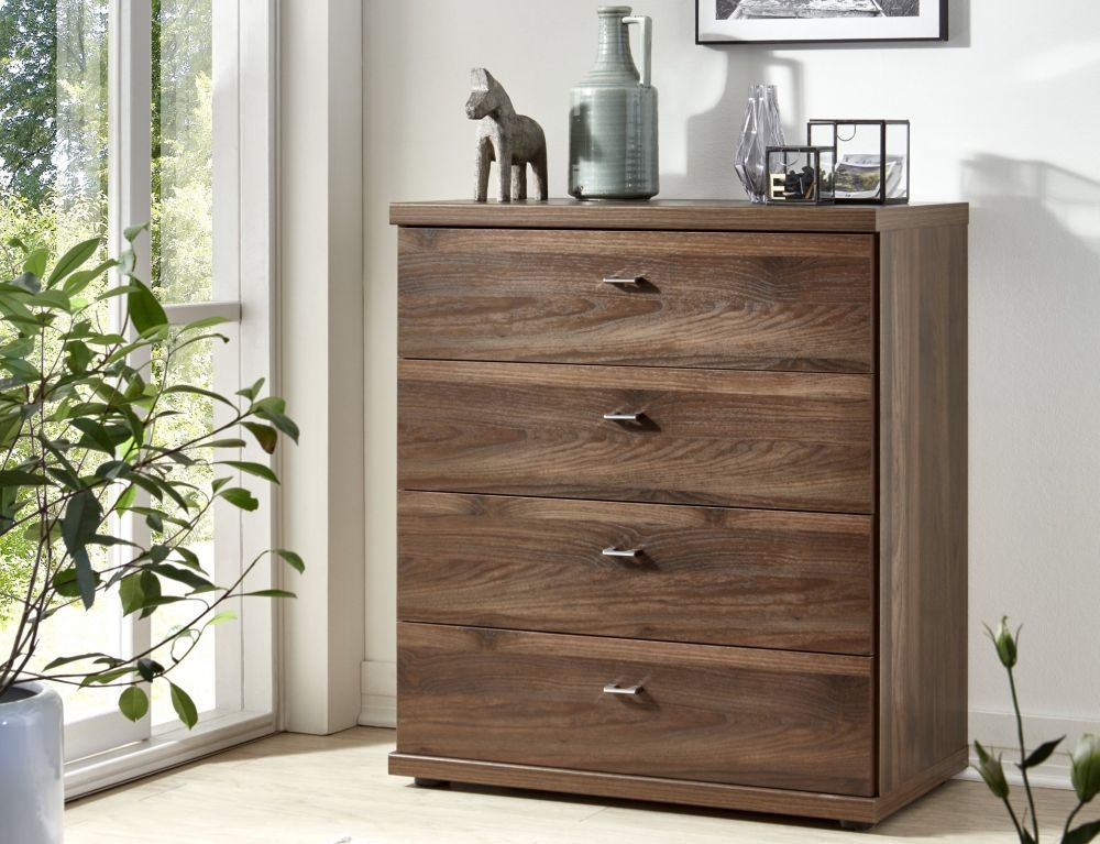 Wiemann Miami2 4 Drawer Chest in Nocce - W 47cm