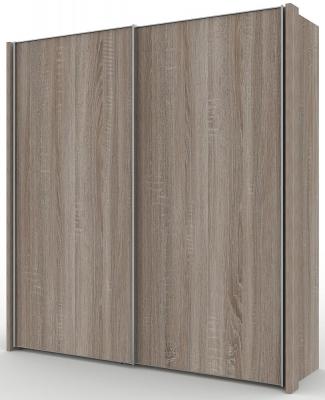 Wiemann Miami 2 Door Wardrobe in Dark Rustic Oak - W 200cm