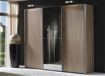 Wiemann Miami 3 Door Wardrobe in Dark Rustic Oak - W 280cm