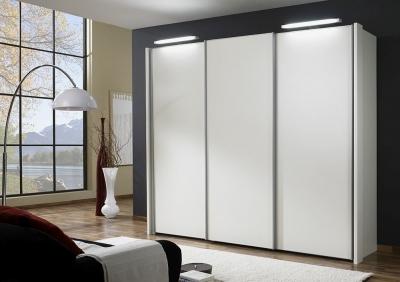 Wiemann Miami 3 Door Wardrobe in White - W 250cm