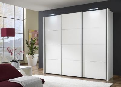 Wiemann Miami 3 Door Wardrobe in White with 4 Panel - W 250cm