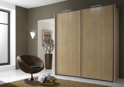 Wiemann Miami 4 Door Sliding Wardrobe in Rustic Oak - W 330cm