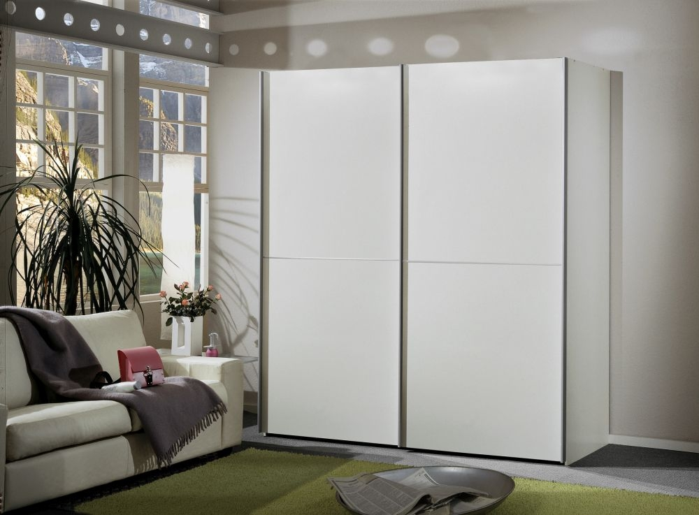Wiemann Miami 2 Door 2 Panel Sliding Wardrobe in White - W 150cm