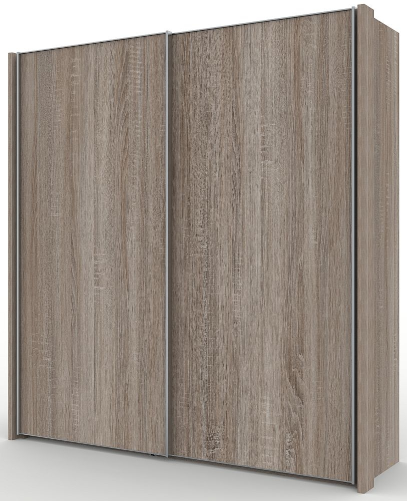 Wiemann Miami 2 Door Wardrobe in Dark Rustic Oak - W 200cm
