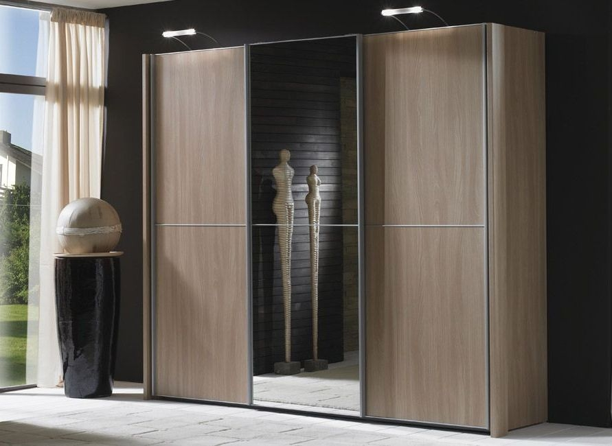 Wiemann Miami 3 Door Wardrobe in Dark Rustic Oak - W 280cm