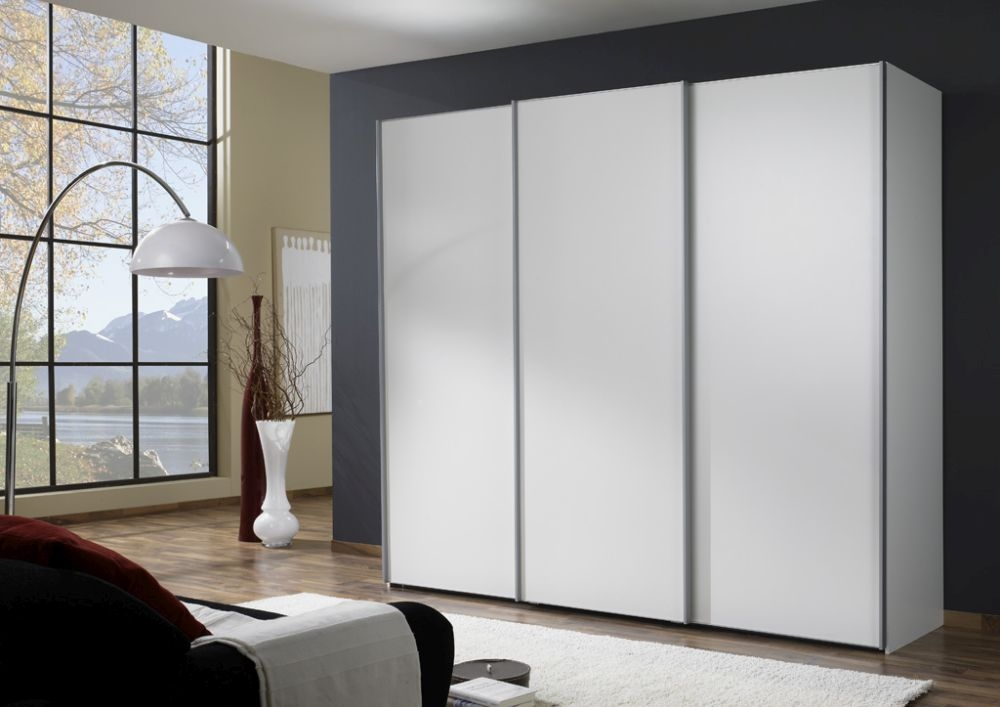 Wiemann Miami 4 Door Sliding Wardrobe in White - W 330cm