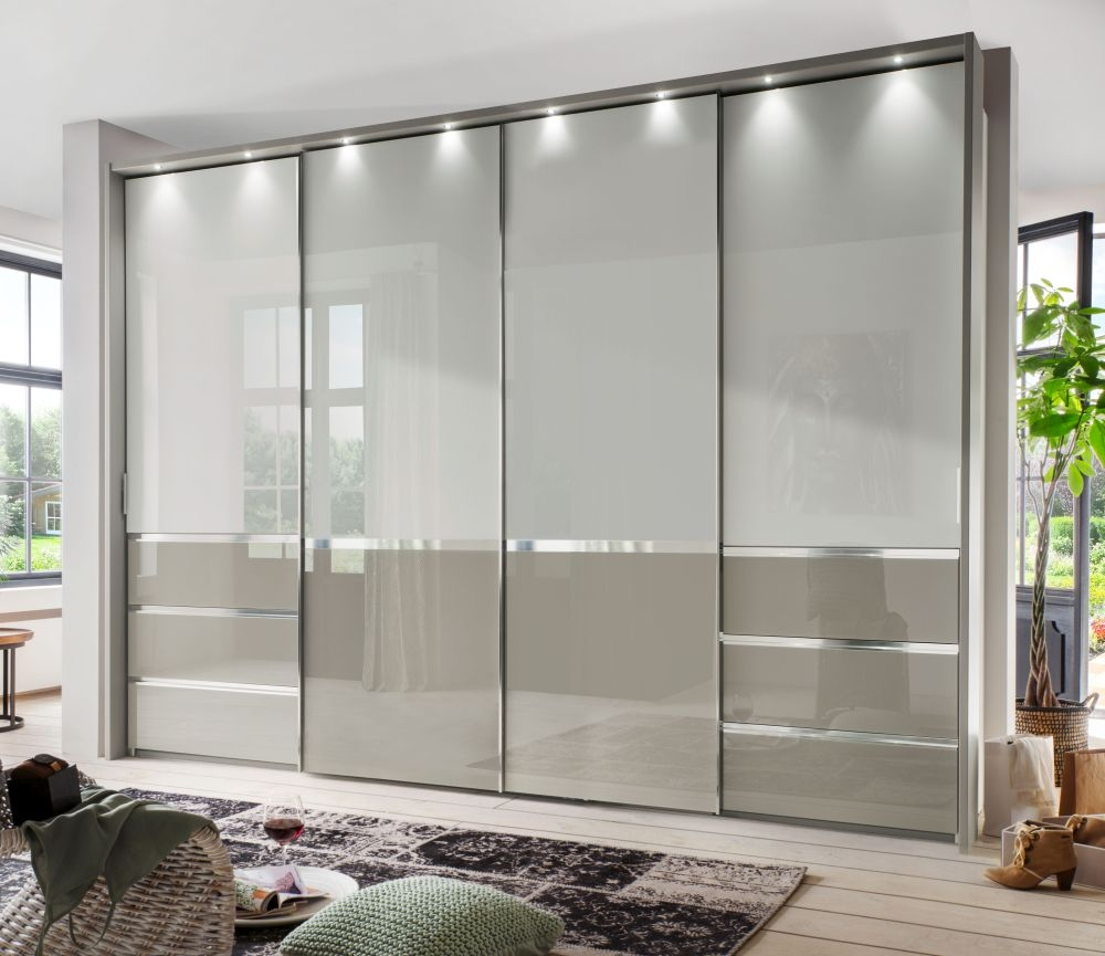 Wiemann Misura 4 Door with 4 Panel Sliding Wardrobe